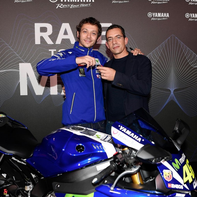 Taking home Valentino Rossi's Yamaha motorbike