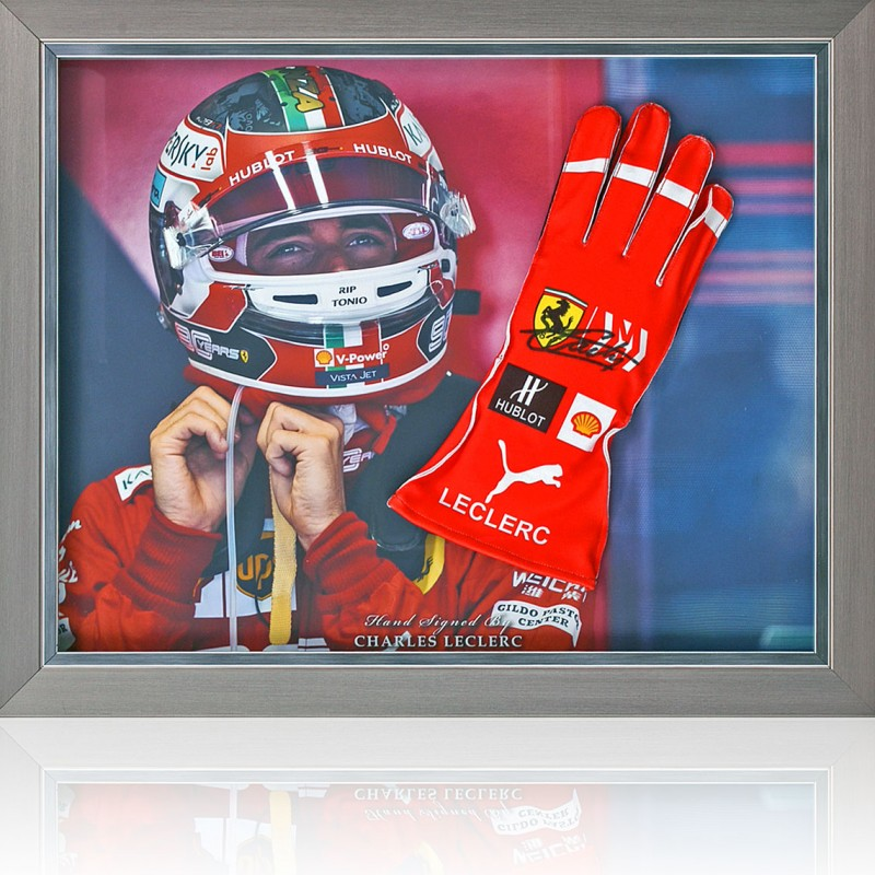 Charles Leclerc Hand Signed Drivers' Glove