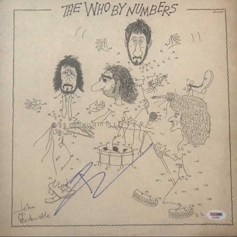 Pete Townshend Signed The Who By Numbers Vinyl LP