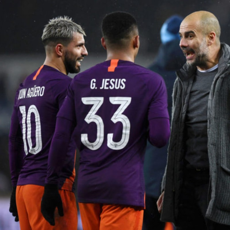 Jesus' Manchester City Match Shorts, Champions League 2018/19