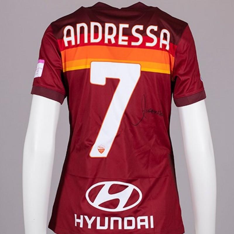 Andressa's AS Roma Signed Shirt - Special Komen Italia