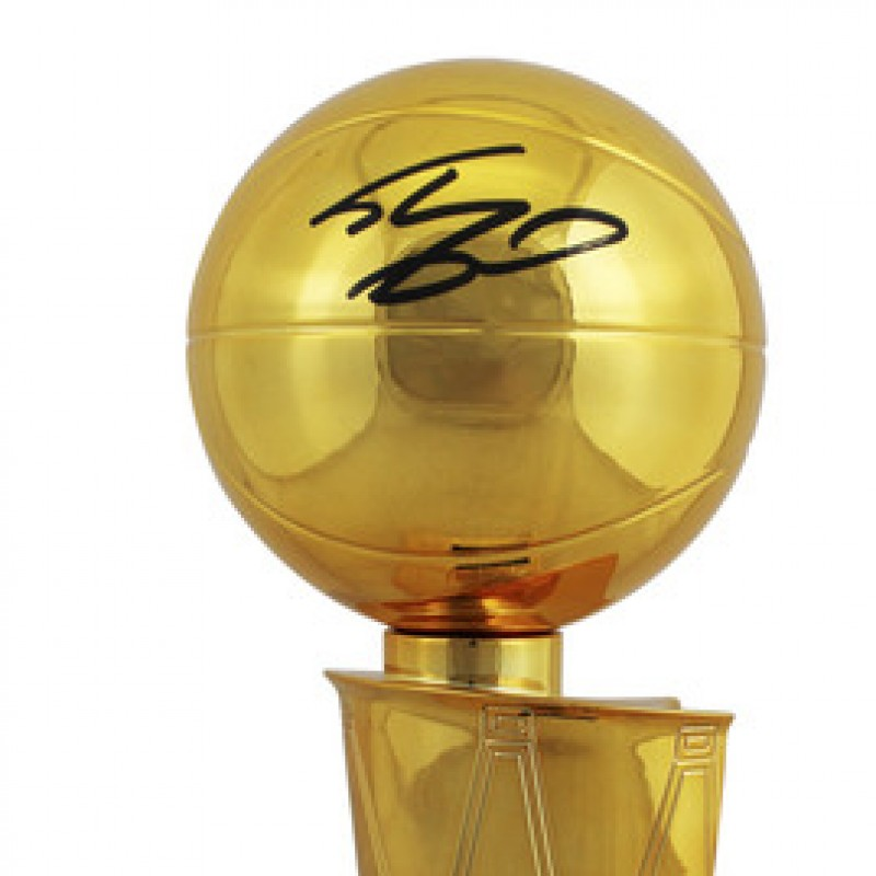 Shaquille O'Neal Signed Replica NBA Championship Trophy