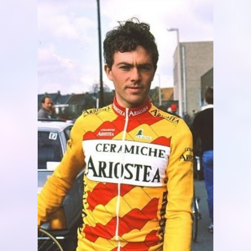 Jersey Worn and Signed by Cyclist Maurizio Vandelli