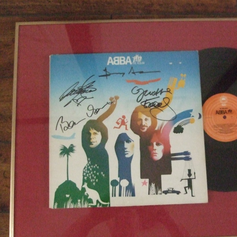 Abba The Album signed by the band