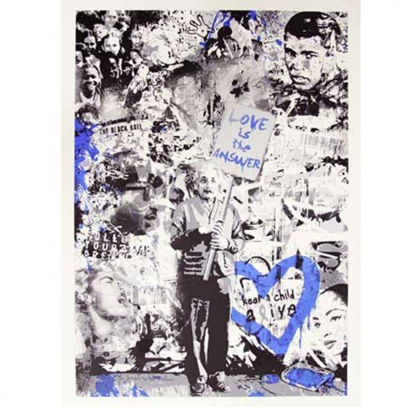 """Keep a Child Alive (Blue)"" by Mr Brainwash"