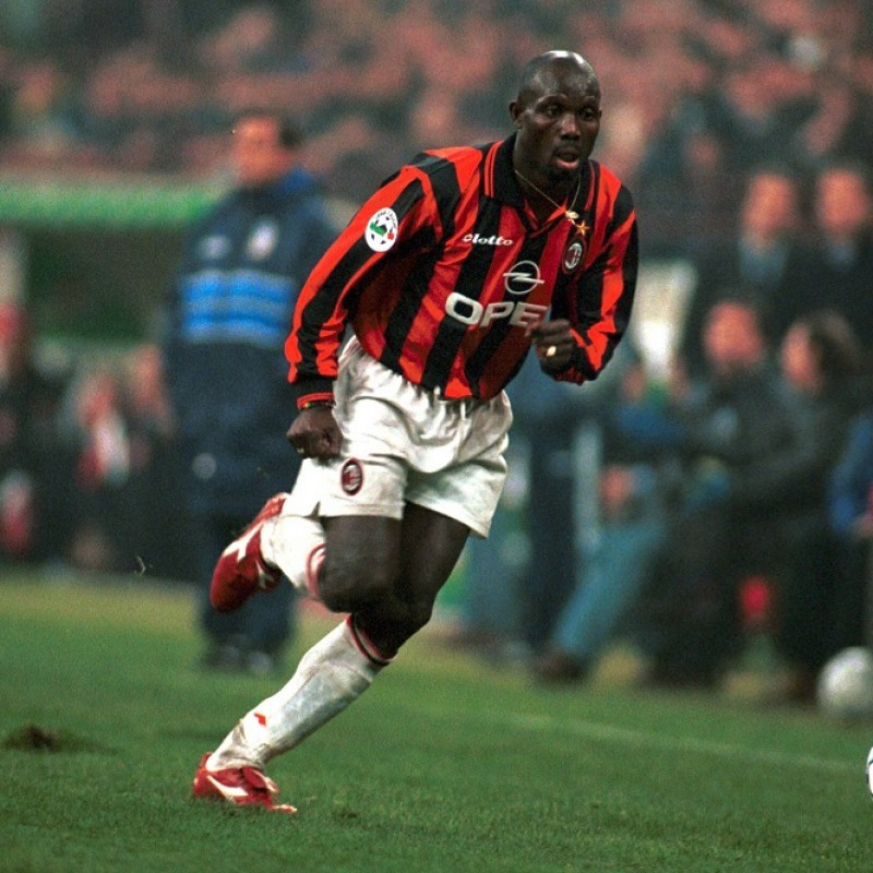 Weah's Official Milan Signed Shirt, 1997/98