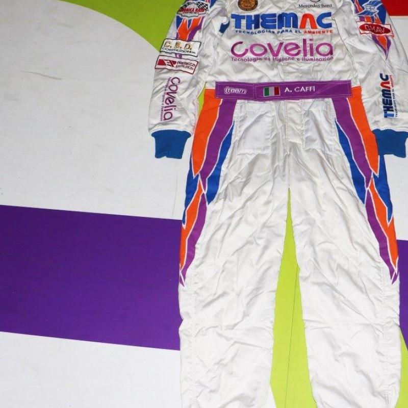 Alex Caffi's Orobica Raid Team worn suit, Rally Dakar 2013