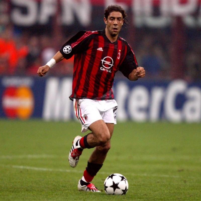 Rui Costa's AC Milan Worn Match Shirt, UCL 2002/03