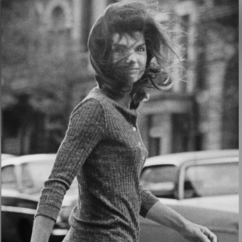 """Windblown Jackie""  Photograph Signed by Ron Galella"