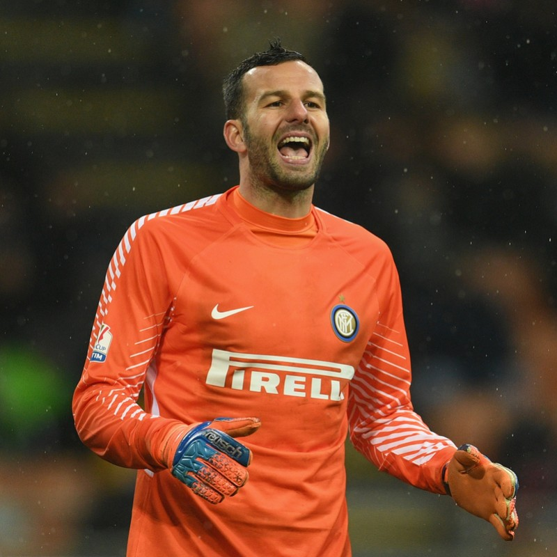Handanovic's Signed Match-Worn Inter Shirt, Serie A 2017/18