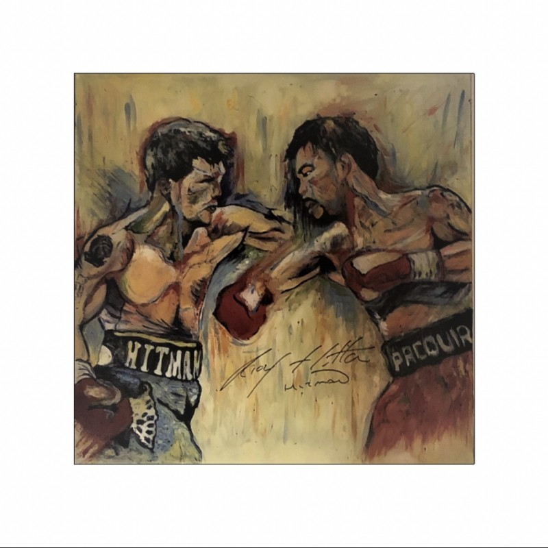 Unique Ricky Hatton Acrylic Artwork by Zuzka, Signed
