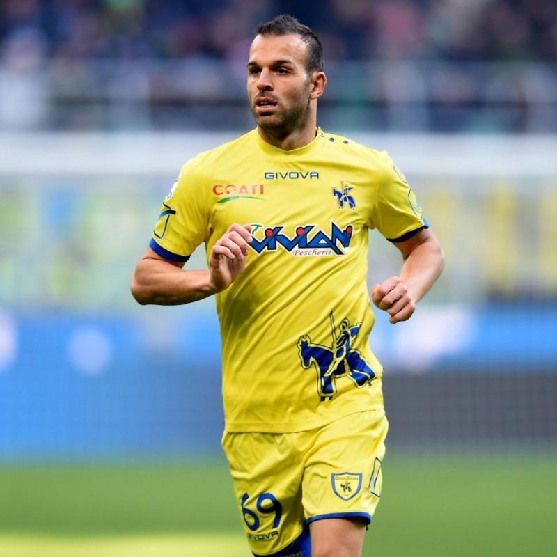 Meggiorini's Match-Issue/Worn Shirt, Chievo-Milan 2017
