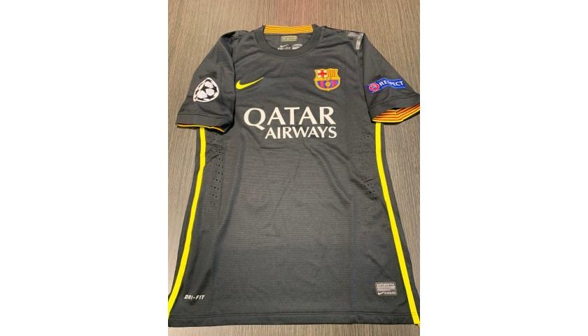 Iniesta's Barcelona Signed Match Shirt, UCL 2013/14