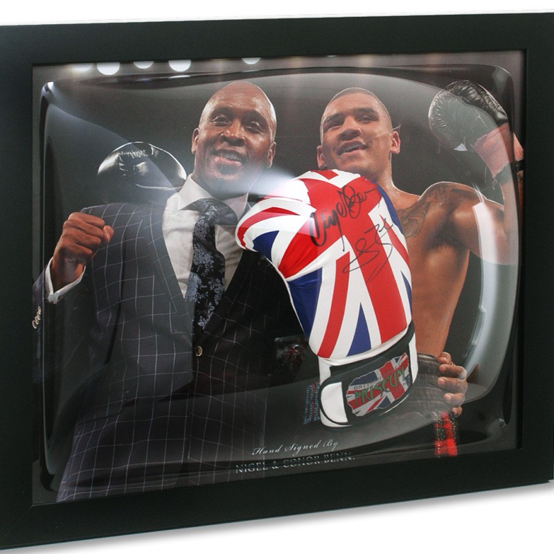 Nigel & Conor Benn Hand Signed Boxing Glove Presentation