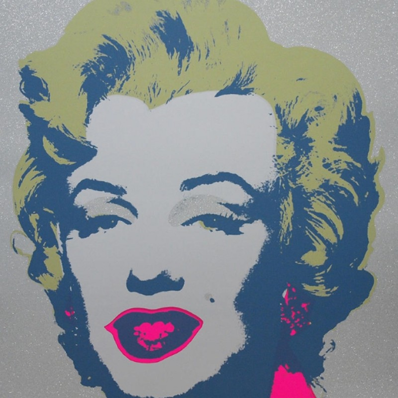 Diamond Dust Marilyn Monroe Print by Andy Warhol