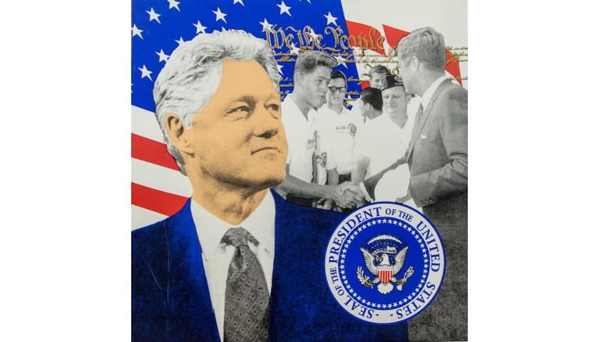 """Bill Clinton"" by Steve Kaufman"