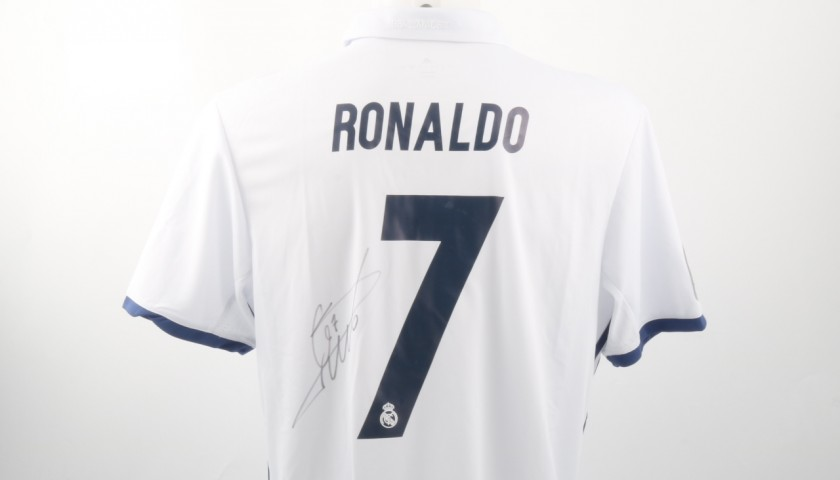 huge selection of 78d95 d4382 Cristiano Ronaldo Official Real Madrid Shirt, 2016/17 - Signed -  CharityStars