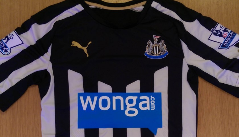 Ryan Taylor's match worn Newcastle United shirt from the 2014/2015 Premier League