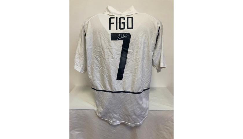 Figo's Official Portugal Signed Shirt, 2002