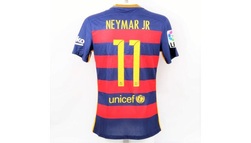 reputable site 26a83 86414 Neymar's Match Shirt, Barcelona-Real Madrid - Gracies Johan - CharityStars