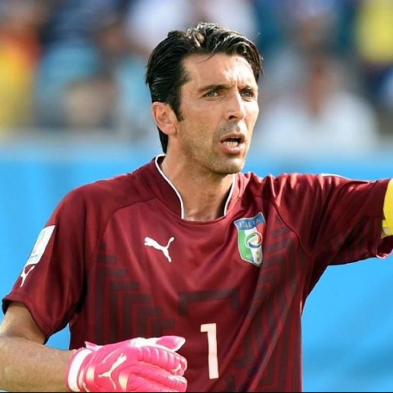 Buffon's Italy Signed Match Shirt, WC 2014
