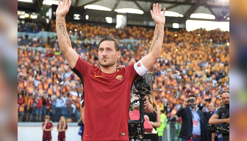 4a20de8a4670 Totti's Authentic AS Roma Signed Shirt, 2017/18 - CharityStars
