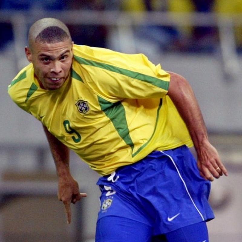 Maglia ufficiale Ronaldo Brasile 2002 - Autografata