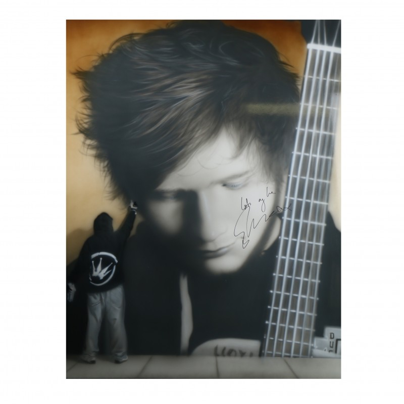 """Unique """"Large Proportions"""" Signed Painting Previously Owned by Ed Sheeran"""