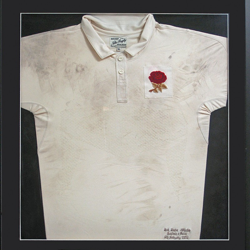 Nick Easter Match Worn England Rugby Shirt
