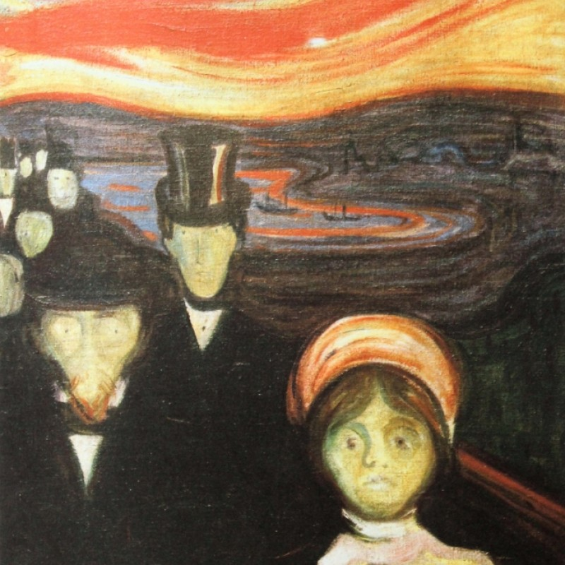 """Ansietà"" - Stampa Litografica Offset di Edvard Munch"