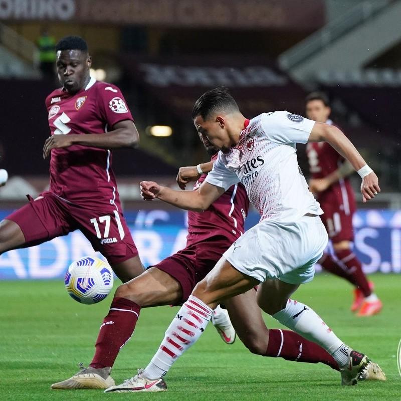 Bennacer's Worn and Signed Shirt, Torino-Milan 2021
