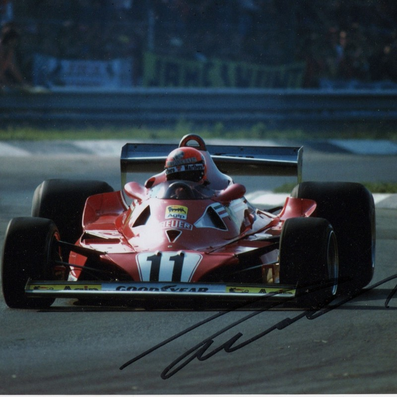 Photograph Signed by F1 Champion Niki Lauda