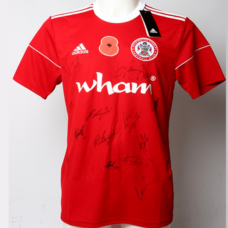 Poppy Shirt Signed by Accrington Stanley F.C.