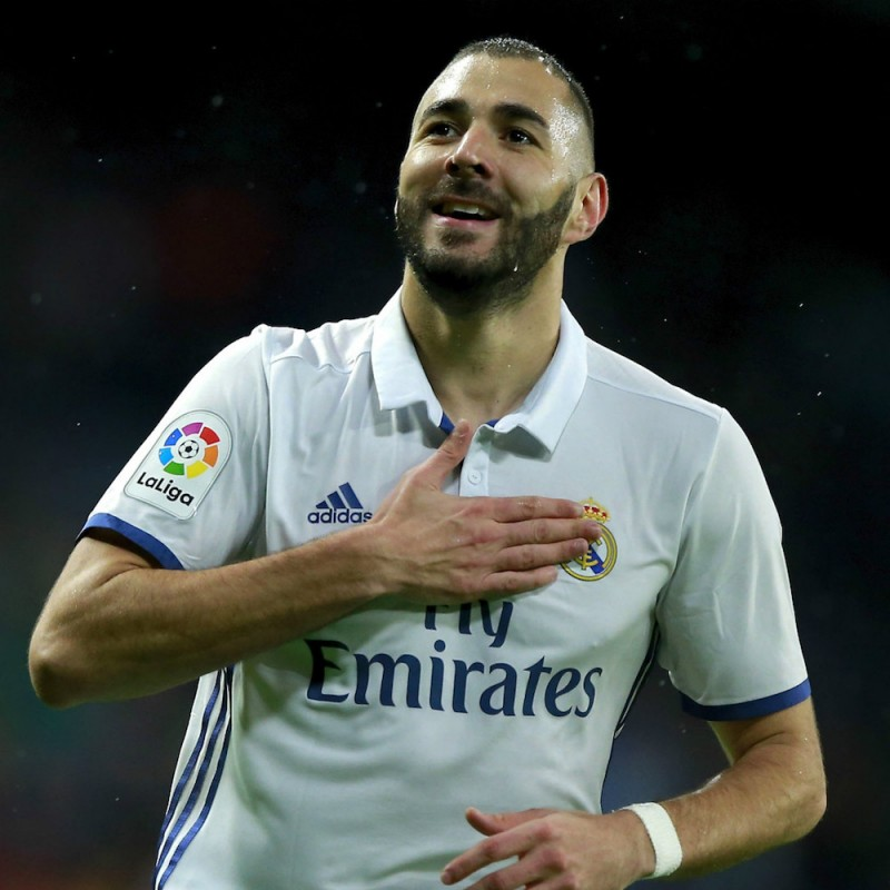 Benzema's Real Madrid Match Shirt, Liga 2016/17