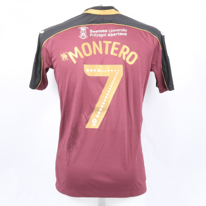 083e21c719c Montero s Swansea City Match-Worn and Signed Poppy Shirt