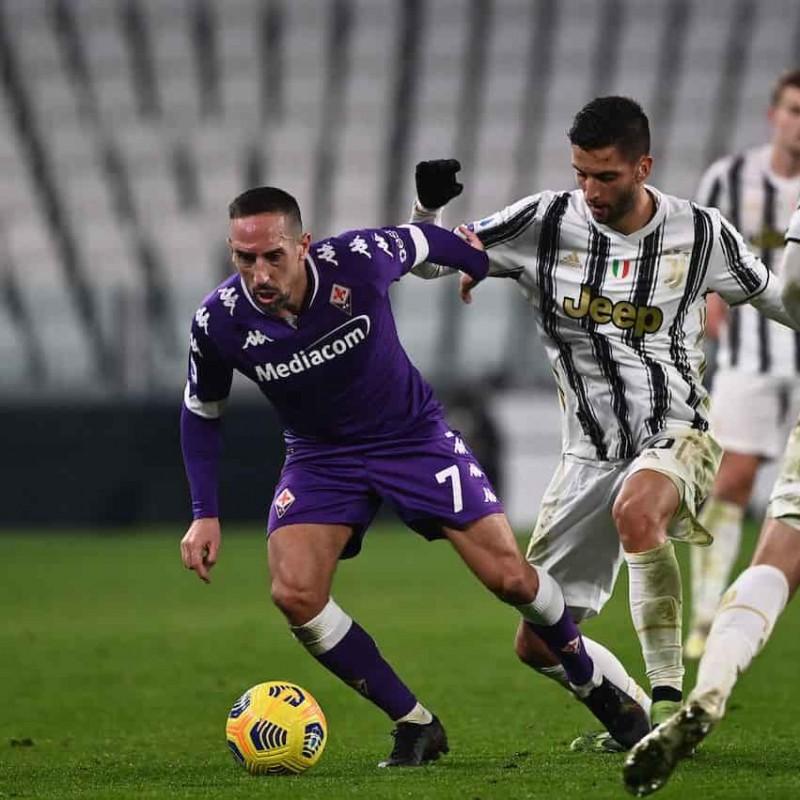 Ribery's Juventus-Fiorentina Signed Match Shirt, 2020