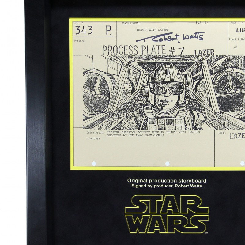 Star Wars Ep IV A New Hope Storyboard - signed by Robert Watts