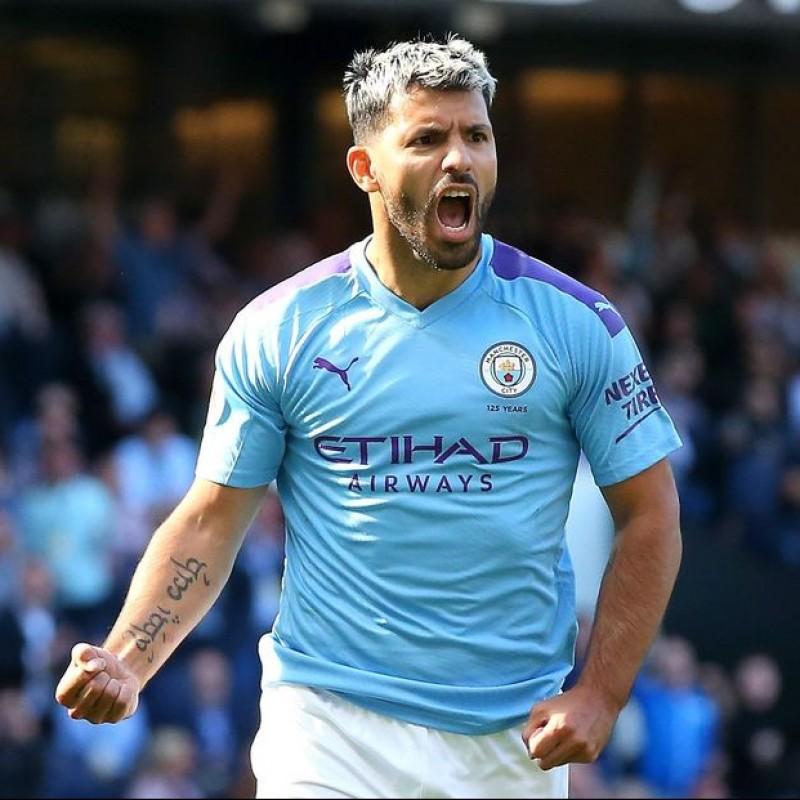 Aguero's Official Manchester City Signed Shirt, 2019/20