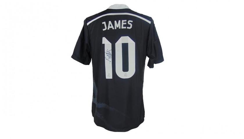 f71f27be11ed4 James Signed Black 2014 15 Real Madrid Football Shirt - CharityStars