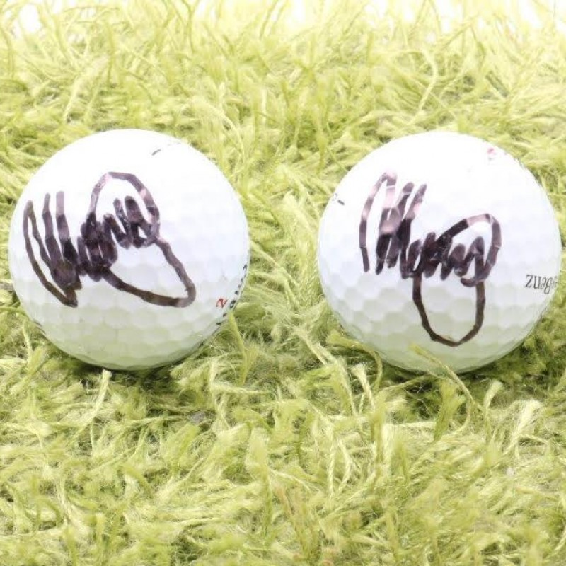 Golf Balls Signed by Italian Champion Matteo Manassero