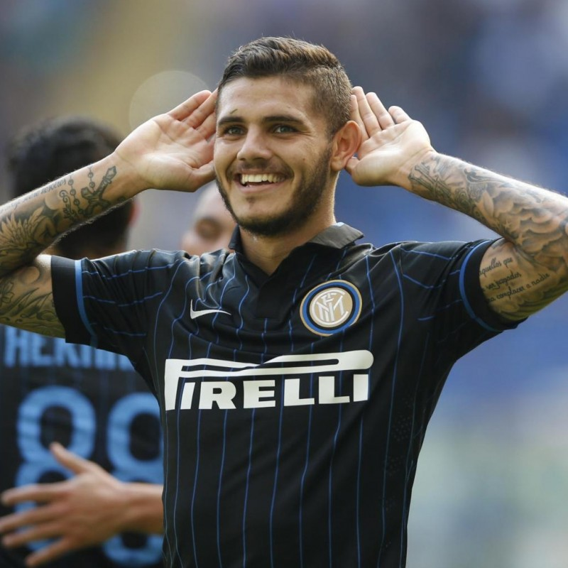 Icardi's Official Inter Signed Shirt, 2014/15
