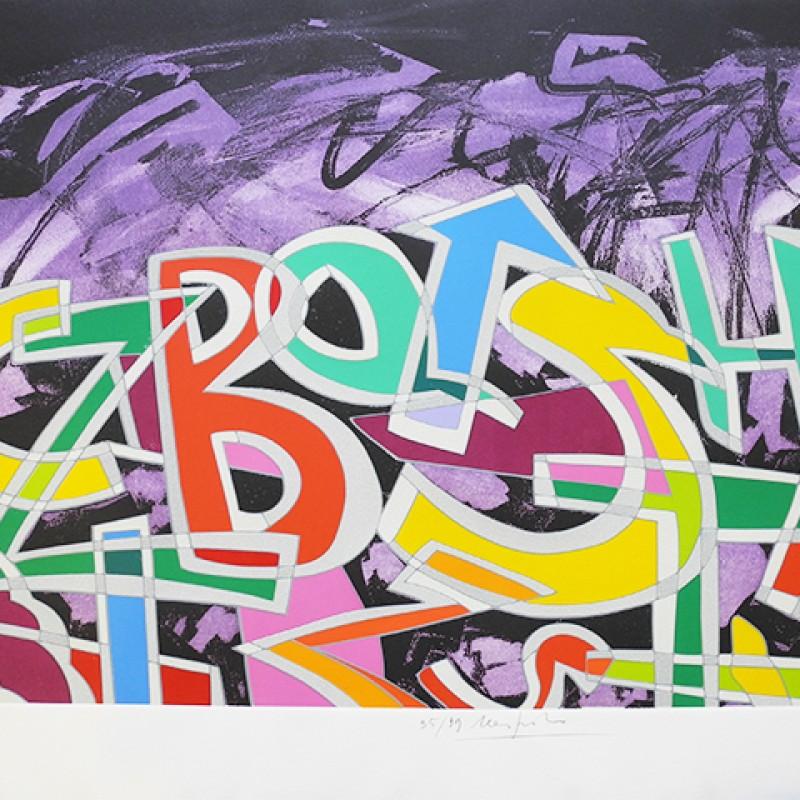 Lithograph by Ugo Nespolo