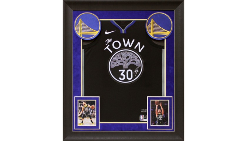 Steph Curry Signed Framed Jersey