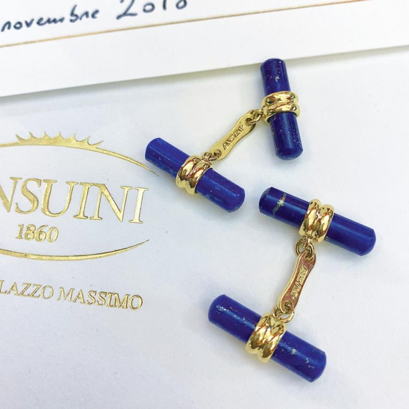 Ansuini Gold and Lapis Lazuli Cufflinks