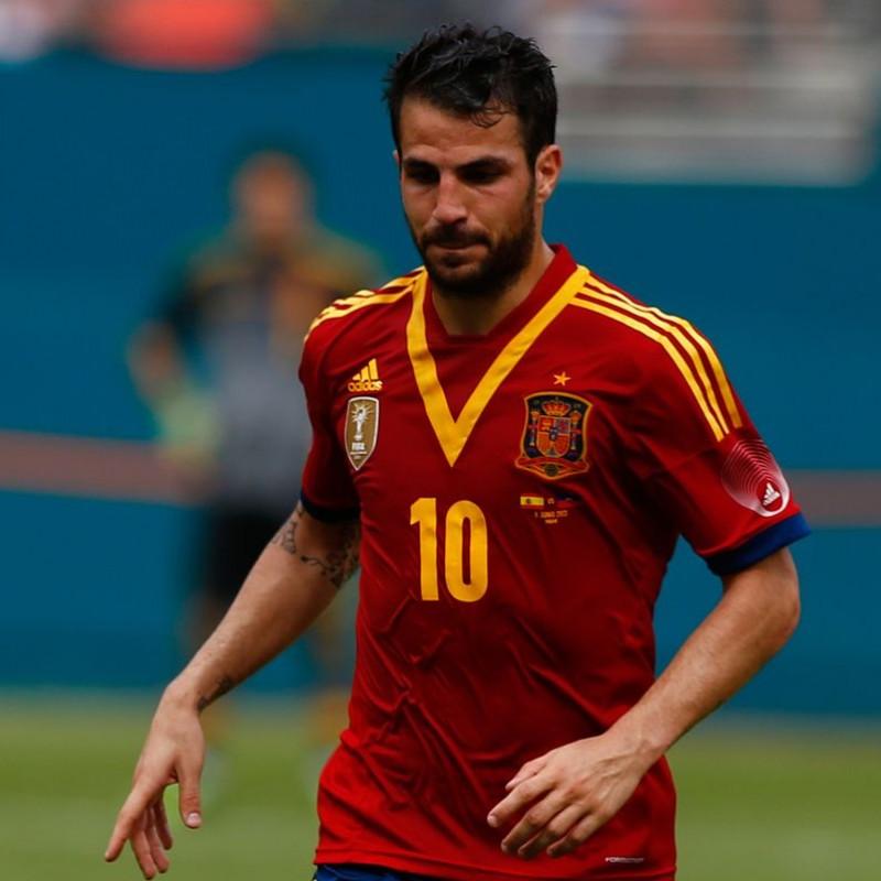Fabregas' Spain Signed Match Shirt, 2013/14