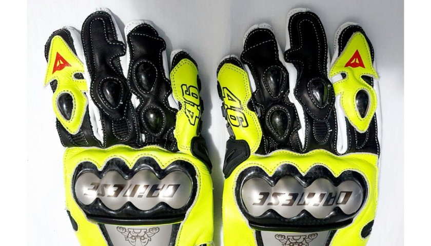 Valentino Rossi Signed Gloves