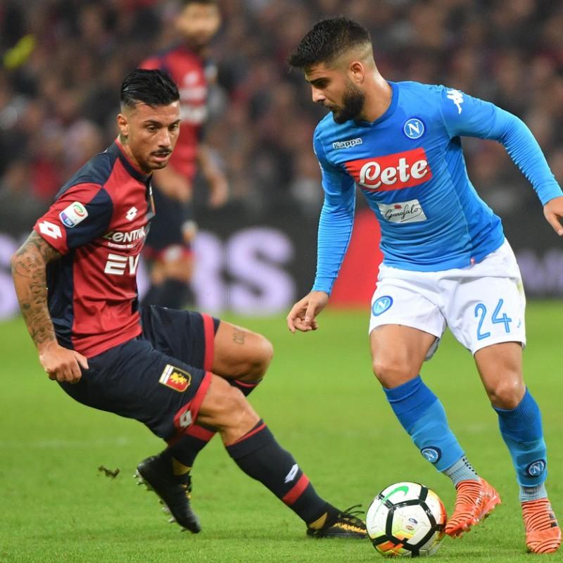 Izzo's Match-Worn Genoa Shirt, 2017/18 Serie A
