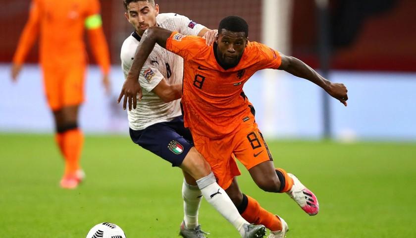 Wijnaldum's Match Shirt, Holland-Italy 2020
