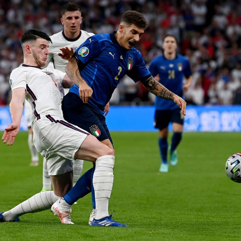 Di Lorenzo's Worn and Unwashed Shorts, Italy-England 2021