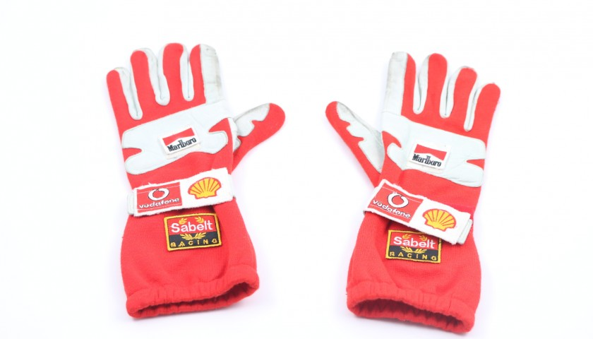 Barrichello's Worn and Signed Gloves